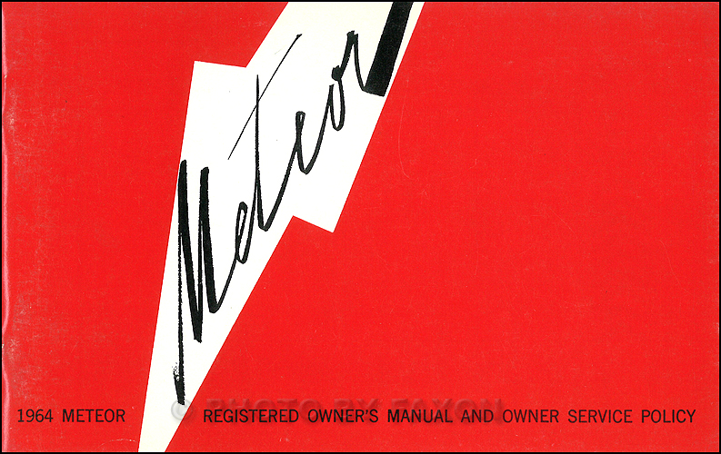 1964 Mercury Meteor Owner's Manual Original Canadian