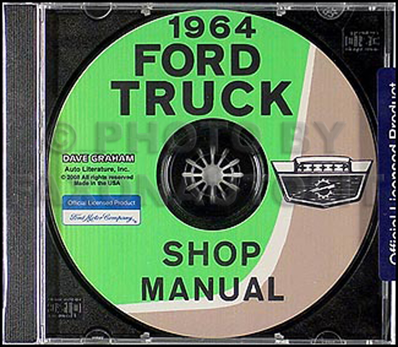 1964 Ford Truck Repair Shop Manual CD F100 F250 F350 and P Series