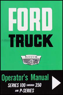 1964 Ford F100-250-350 Pickup Owner's Manual