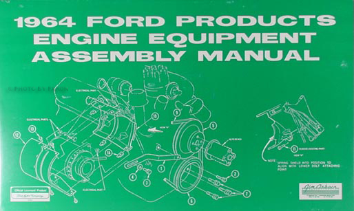 1964 Ford and Mercury Car Engine Equipment Assembly Manual Reprint