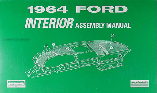 1964 Ford Galaxie & 500 Interior Assembly Manual Reprint