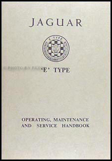 1964 Jaguar XKE Owner's Manual Original