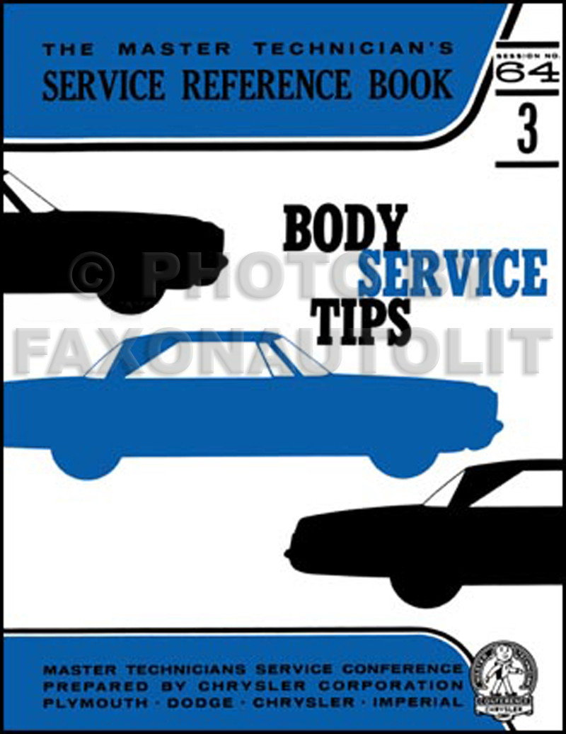 1964 MoPar Window Service Training Manual Reprint