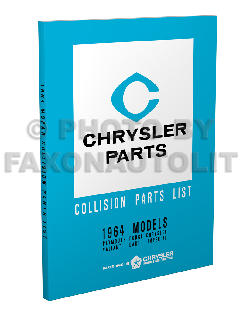 1964 MoPar Collision Parts Book Reprint