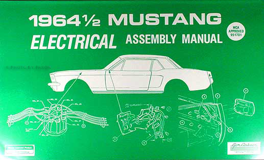 1964 ½ Ford Mustang Reprint Electrical wiring Assembly Manual