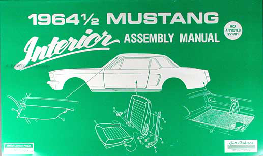 1964 ½ Ford Mustang Interior Assembly Manual Reprint