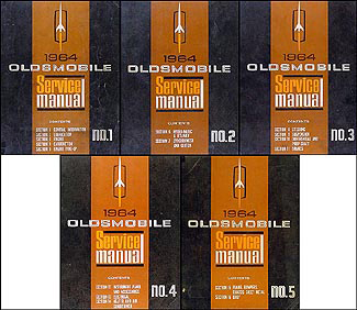 1964 Oldsmobile Repair Manual Original 5 Volume Set