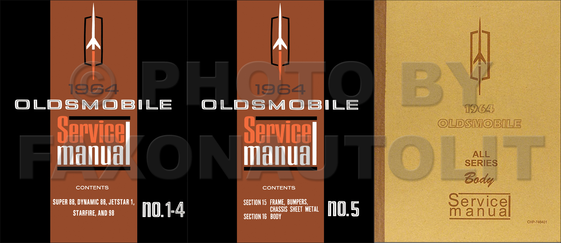1964 Oldsmobile Repair Manual Reprint 5 Volume Set