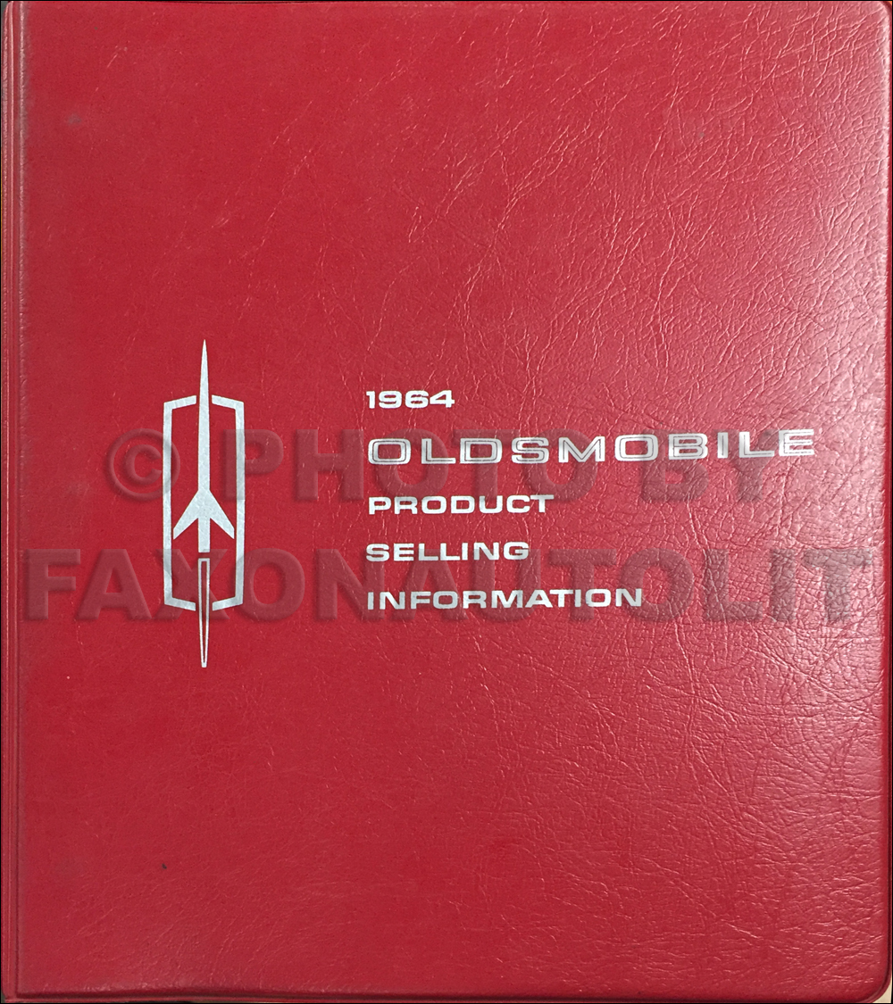 1964 Oldsmobile Data Book Original