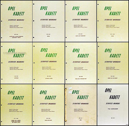 1964 -1965 Opel Kadett Repair Manual Set Original