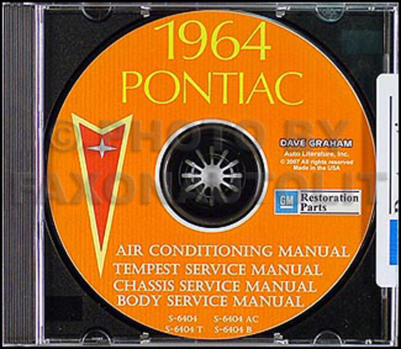 1964 Pontiac CD Shop Manual with Body & Air Conditioning Manuals