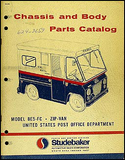 1963-1965 Studebaker Postal 8E5-FC Zip-Van Parts Catalog Original