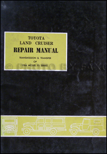 1985 Toyota Land Cruiser Automatic Transmission Repair Manual Original