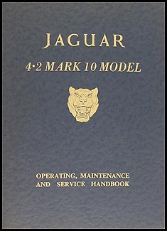 1965-1966 Jaguar Mark 10 Owner's Manual Original