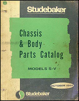 1965-1966 Studebaker Car Mechanical & Body Parts Book Original