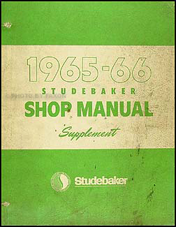 1965-1966 Studebaker Car Repair Shop Manual Original