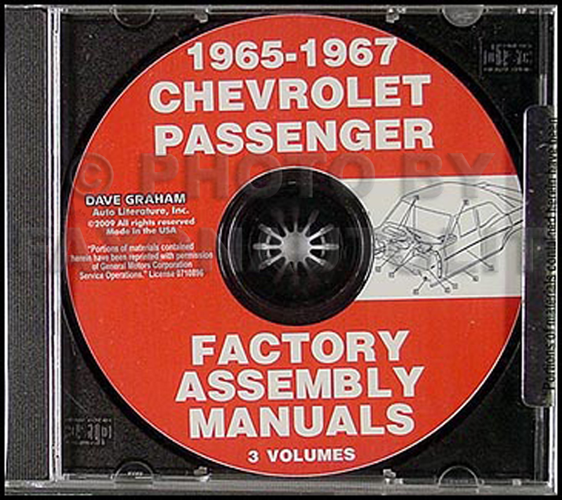 CD-ROM 1965-1967 Chevy Car Factory Assembly Manual 3 Vol.