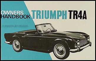 1965-1967 Triumph TR4A Owner's Manual Reprint