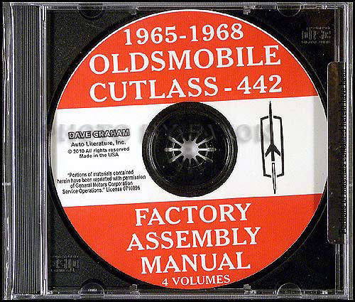 1965-1968 Oldsmobile 442 and Cutlass CD-ROM Assembly Manuals