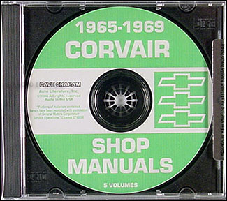 1965-1969 Corvair and Monza CD Shop Manual
