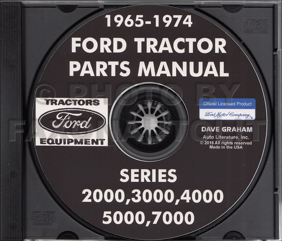 1965-1974 Ford Tractor Parts Manual CD-ROM 2000, 3000, 4000, 5000, 7000