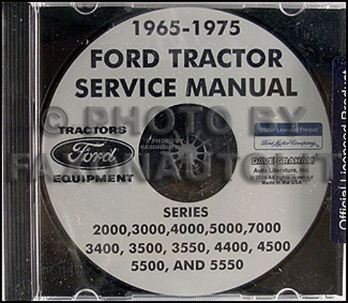 1965-1975 Ford Tractor Repair Shop Manual 2000, 3000, 4000, 5000, 7000 CD-ROM