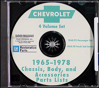 1973-1978 Chevy  & GMC 1/2 thru 1 ton CD-ROM Parts Illustrations