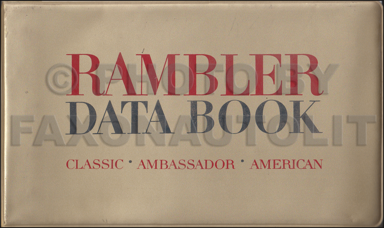 1965 AMC Data Book Original
