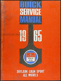1965 Buick Skylark Gran Sport Shop Manual Original Supplement