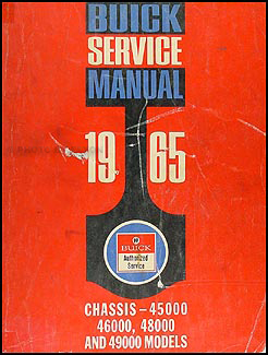1965 Buick Shop Manual Original - Riviera, LeSabre, Wildcat, Electra