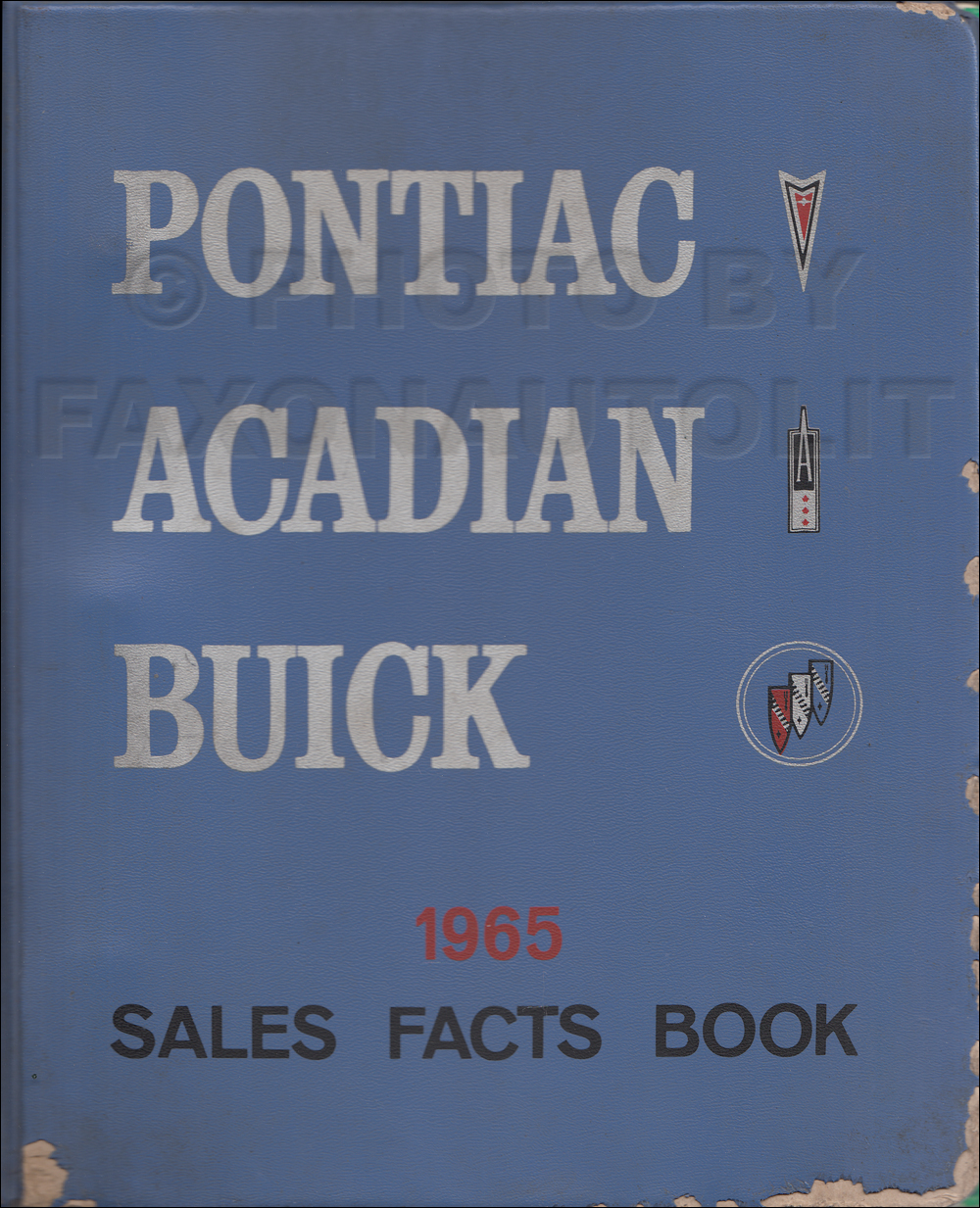1965 Buick, Pontiac, and Acadian Facts Book Canadian Original
