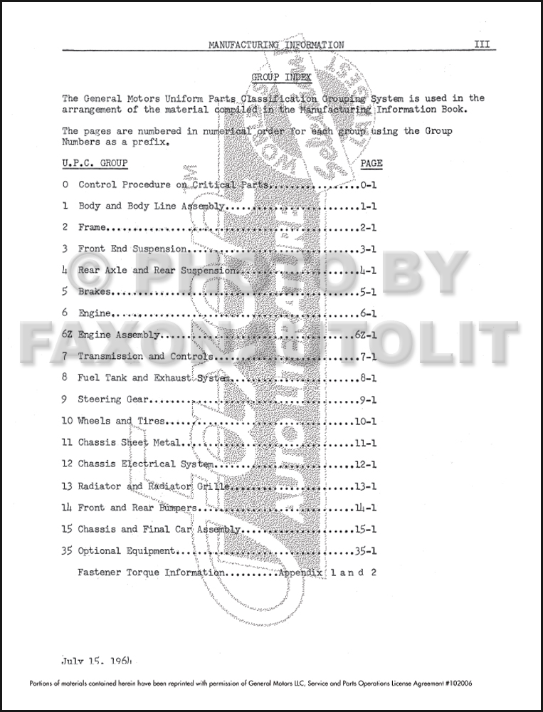 1965 cadillac written assembly manual reprint
