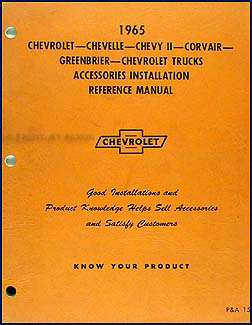 1965  Chevy Accessory Installation Manual Original