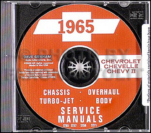 1965 Chevy CD Body & Shop Manual Impala/Nova/Chevelle/El Camino/SS