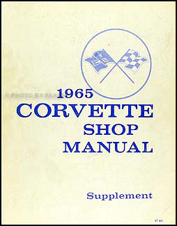 1965 Corvette Shop Manual Original Supplement