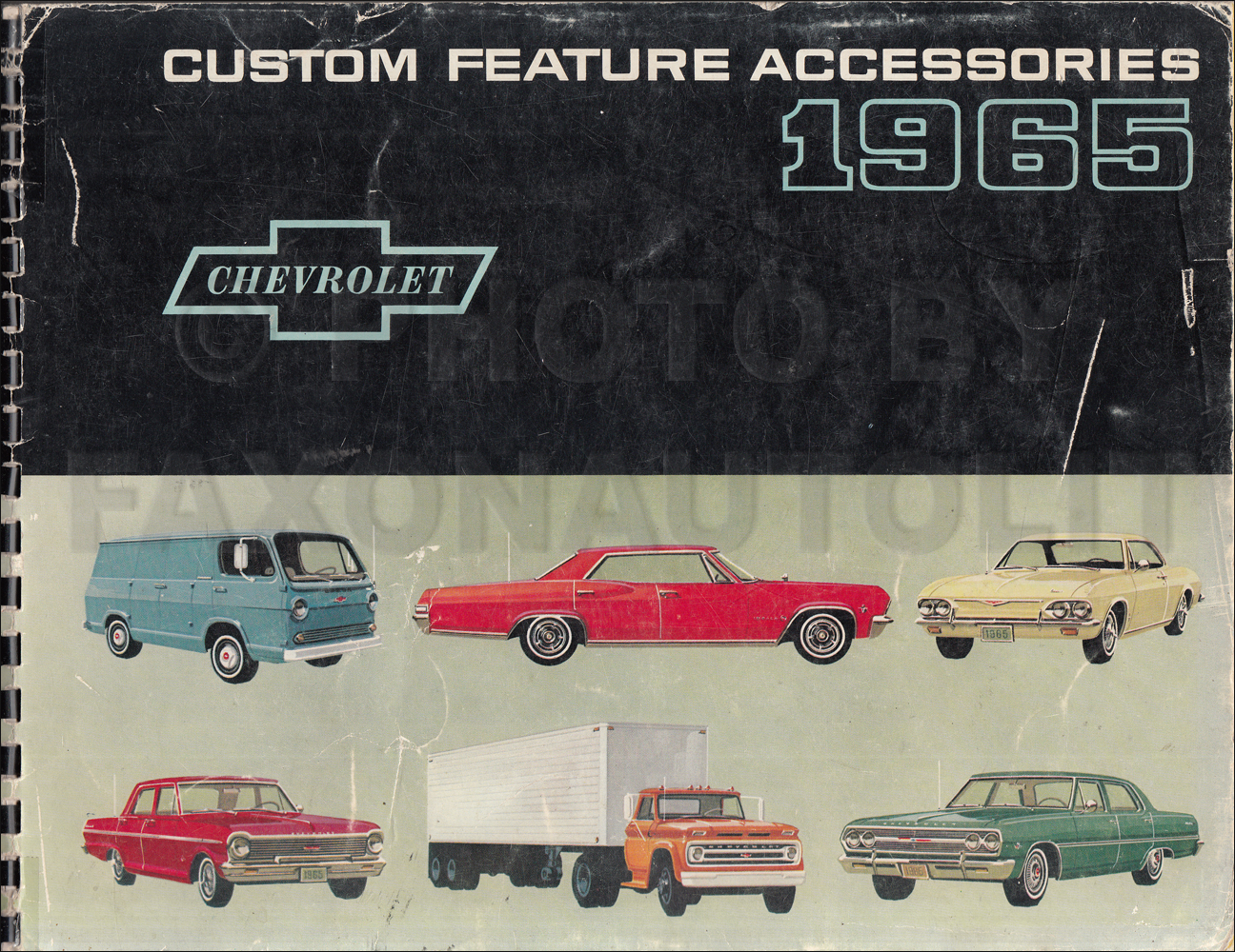 1965 Chevrolet Custom Feature Accessories Dealer Album Original