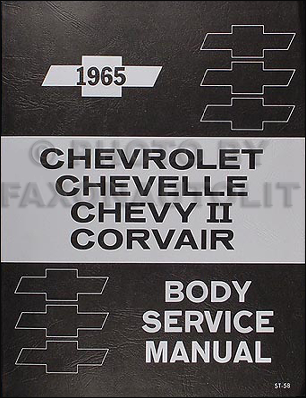 1965 Chevrolet Body Manual Reprint - all models