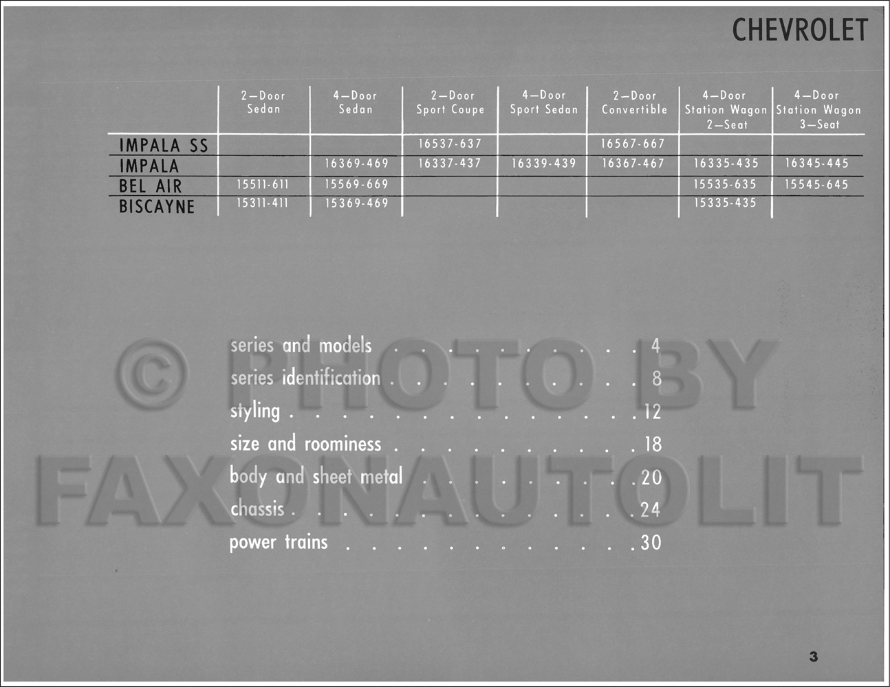 1965 chevrolet car engineering features manual reprint