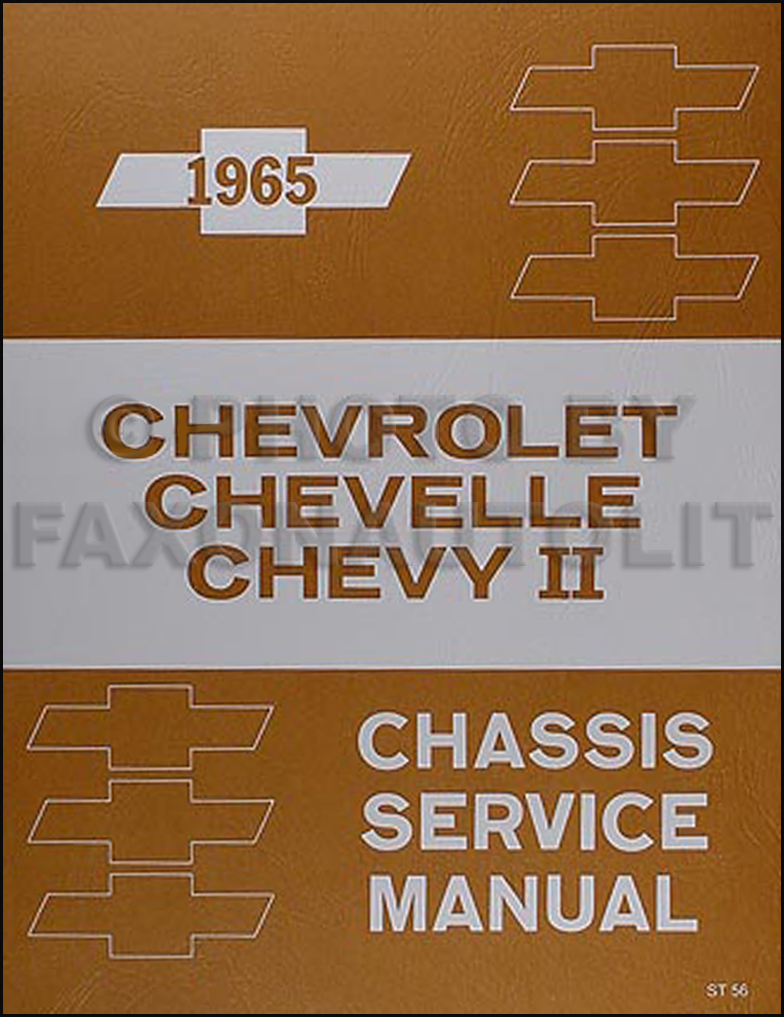 1965 Chevy Repair Shop Manual Impala Caprice Chevelle Malibu El Camino Chevy II Nova