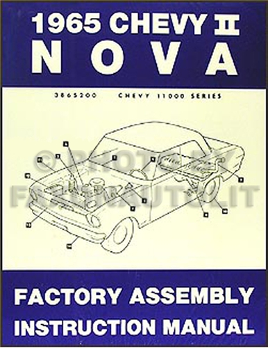 1965 Chevy II & Nova Bound Assembly Manual Reprint