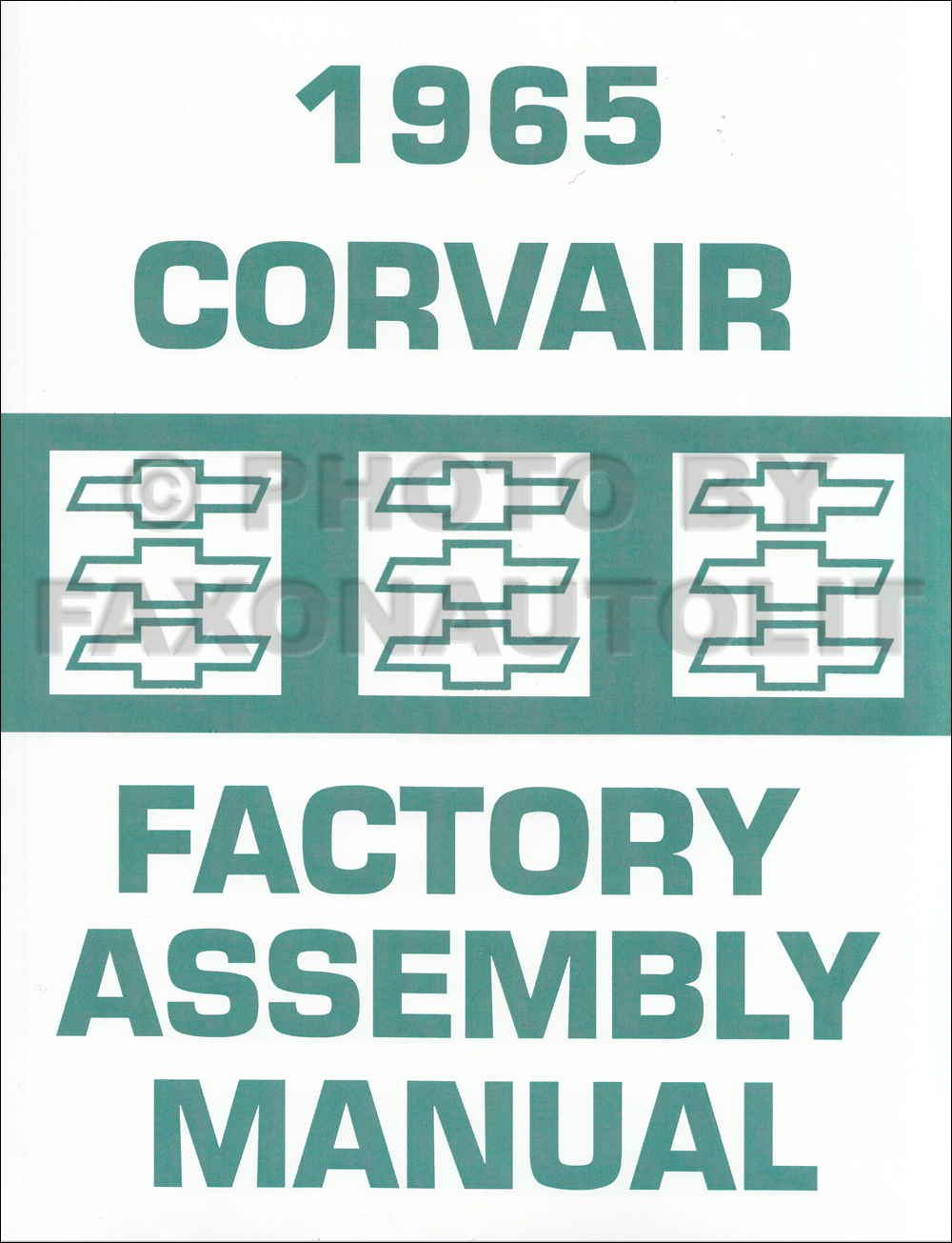 1965 Chevy Corvair and Monza Assembly Manual Reprint