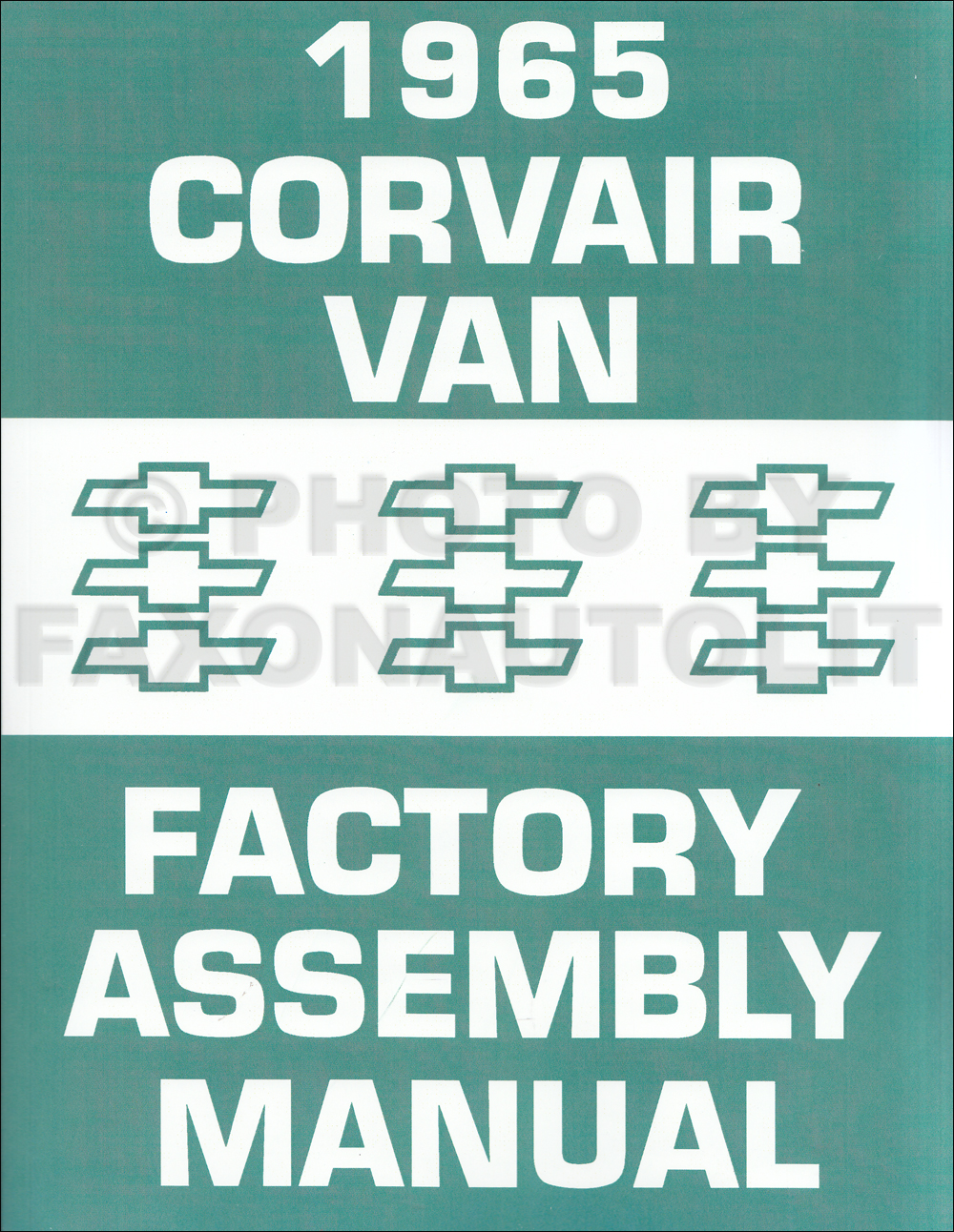 1965 Chevy Corvair Greenbrier Van Assembly Manual Reprint