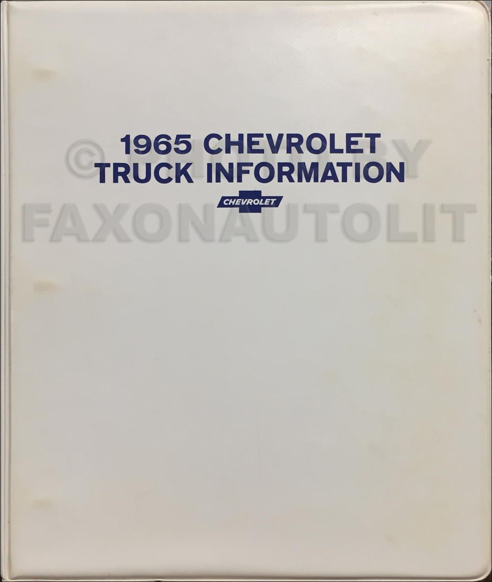 1965 Chevrolet Truck Sales Brochure Set in a Dealer Album