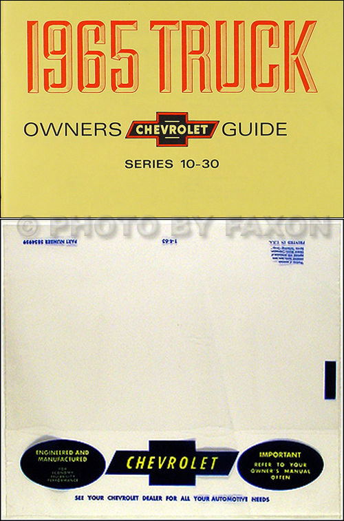 1965 Chevrolet ½-, ¾-, & 1-ton Truck Owner's Manual Package Reprint Pickup/Suburban/P-Chassis