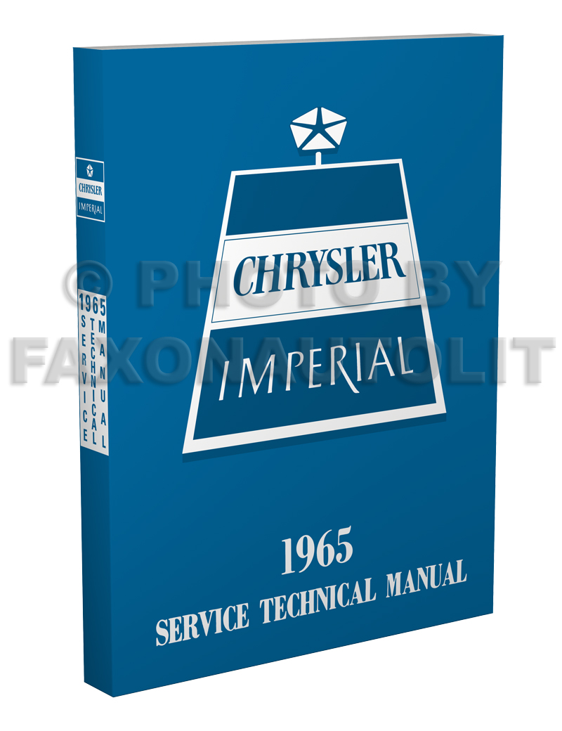 1965 Chrysler & Imperial Shop Manual Reprint