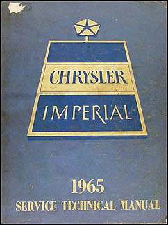 1965 Chrysler & Imperial Shop Manual Original