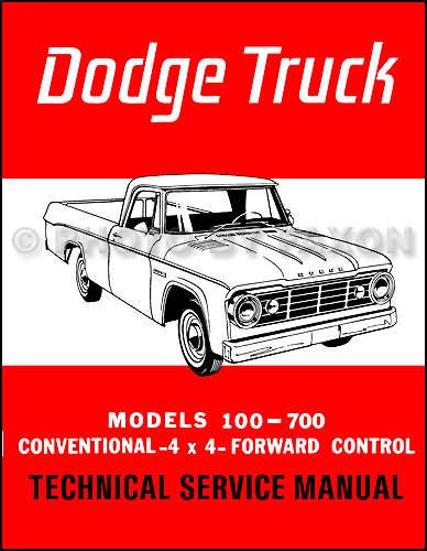 1965 Dodge 100-700 Pickup & Truck Repair Manual Reprint