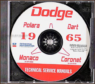 1965 Dodge Car CD Shop Manual for all models
