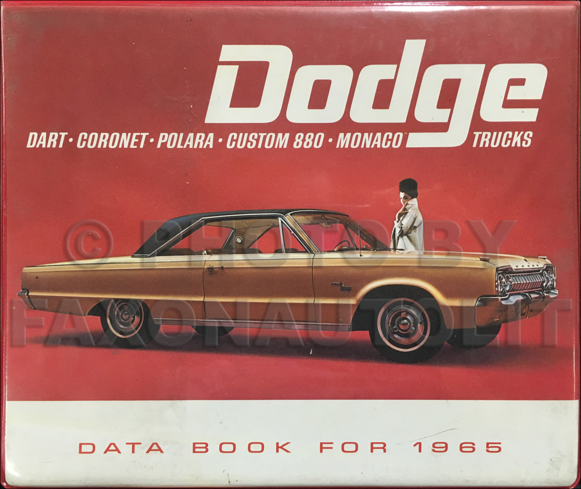 1965 Dodge Data Book Original