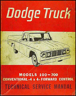 1965 Dodge 100-700 Pickup & Truck Repair Manual Original